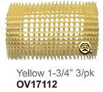 "Nite Curl Self Gripping Roller Yellow 1&3/4"" 3pk"