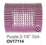 "Nite Curl Self Gripping Roller Purple 2&1/8"" 3pk"