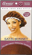 Annie Satin bonnet X-Large Assorted
