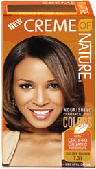 Creme of Nature Women's Gel Color Golden Brown 7.31