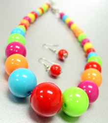 Assorted Multi Beads Earring & Necklace Set
