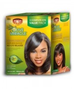African Pride Olive Miracle No Lye Relaxer Kit 2APP