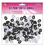 BT Pony OH's Small Black/White (100 Count)