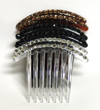 Color Side Hair Comb with Rhinestones 2