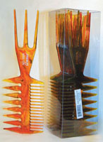 Brown 3 in 1 Comb