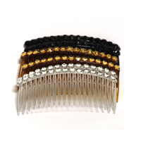 Color Side Hair Comb with Rhinestones