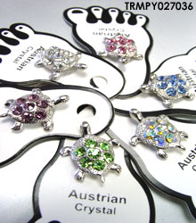 Assorted Crystals Turtle Toe Rings