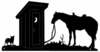 Horse Silhouettes - Outhouse