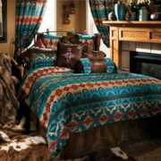 Turquoise Western Bedding - Click to enlarge