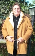 Classic Mens Shearling Coat - Click to enlarge