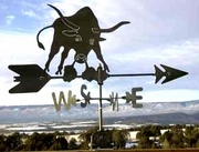 Cow Weathervane - Longhorn Bull  - Click to enlarge