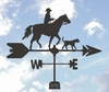 Horse Weathervane - Cowboy And Dog