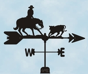 Cutting Horse Weathervane - Click to enlarge