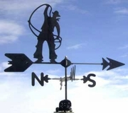 Ranch Weathervanes For Barn - Roping - Click to enlarge