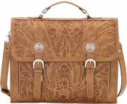 Tooled Leather Briefcase - 4242208 - Click to enlarge