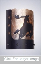 Western Wall Sconces - 8 Seconds