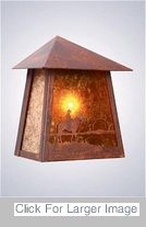 Cowboy Outdoor Lighting - Tri Roof Cowboy Sunset