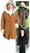 Ladies Sheepskin Coats - 0296J - Click to enlarge