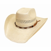 White Straw Cowboy Hats - Fortunate One - Click to enlarge