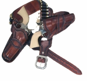 Western Holsters - Two Holsters & Belt - Click to enlarge