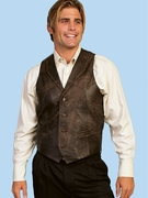 Western Leather Vest - 206 - Click to enlarge