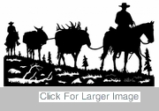 Horse Pack String Silhouette -  2