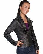 Womens Western Leather Jackets -Motorcycle - Click to enlarge