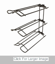Wall Mount Saddle Rack - 11723BK