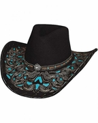 Felt Cowgirl Hats - Studded - Click to enlarge