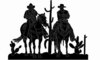 Cowboy On Horse Silhouette - Friends