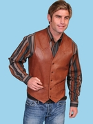 Western Leather Vest - 503-189 - Click to enlarge