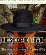 Old Style Cowboy Hats - Boss Of The Town - Click to enlarge