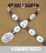 Sterling Silver Concho Belt - 0488-CN