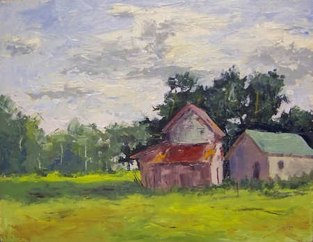 Morning Barns - 11x14