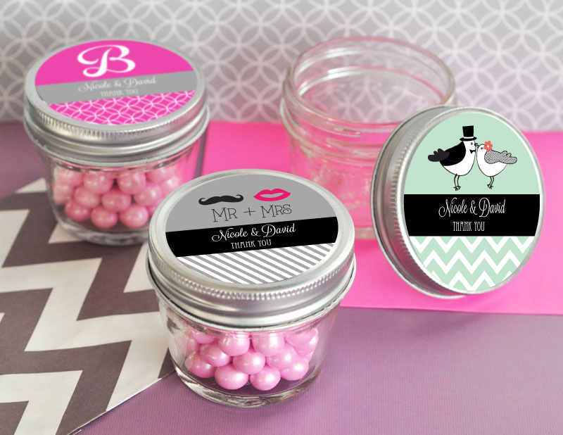 Personalized Theme Small 4 oz Mason Jars