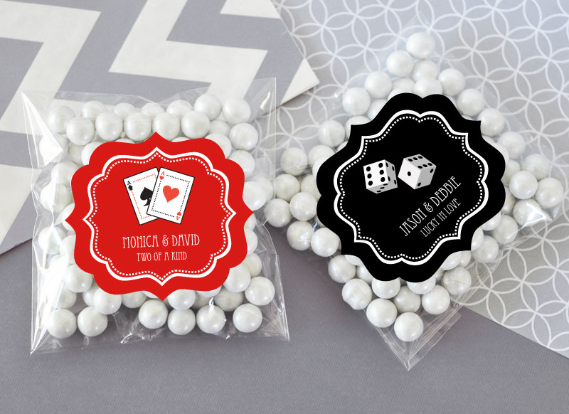 Personalized Vegas Clear Candy Bags (set of 24)