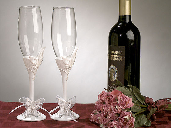 Butterfly Theme Toasting Glass Set