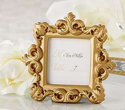 """""""Royale"""" Gold Baroque Place Card/Photo Holder"""