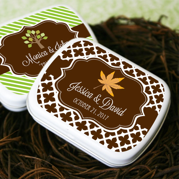 Fall Personalized Mint Tins