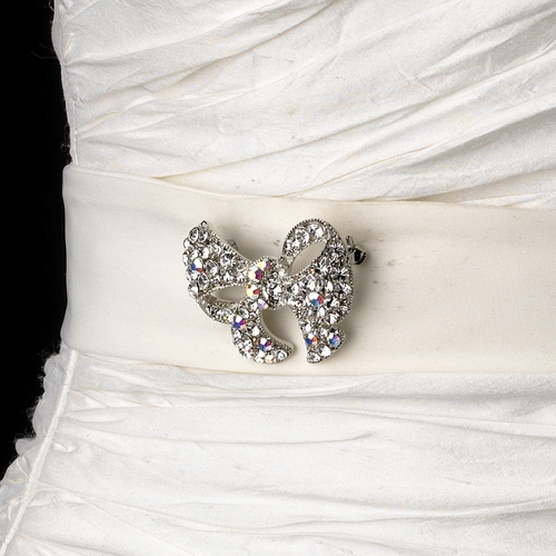 Belt with Antique Crystal Bow Brooch