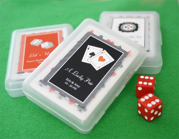 """A Lucky Pair"" Vegas Themed Playing Cards"