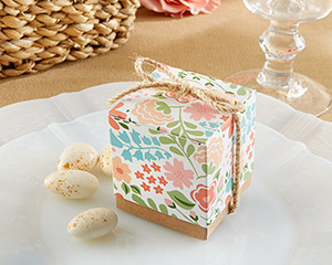 """Vintage Floral"" Favor Box (Set of 24)"
