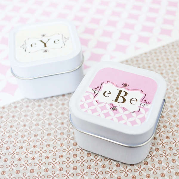 Mod Monogram Personalized Square Candle Tin