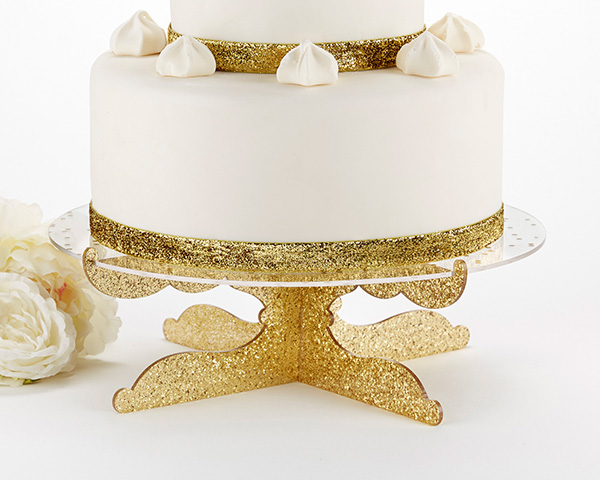Gold Glitter Acrylic Cake Stand-Party Time