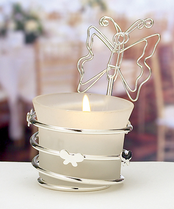 Butterfly-Design Candle Holders/ Place Card Holders