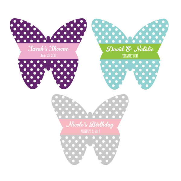 Personalized Butterfly Stickers