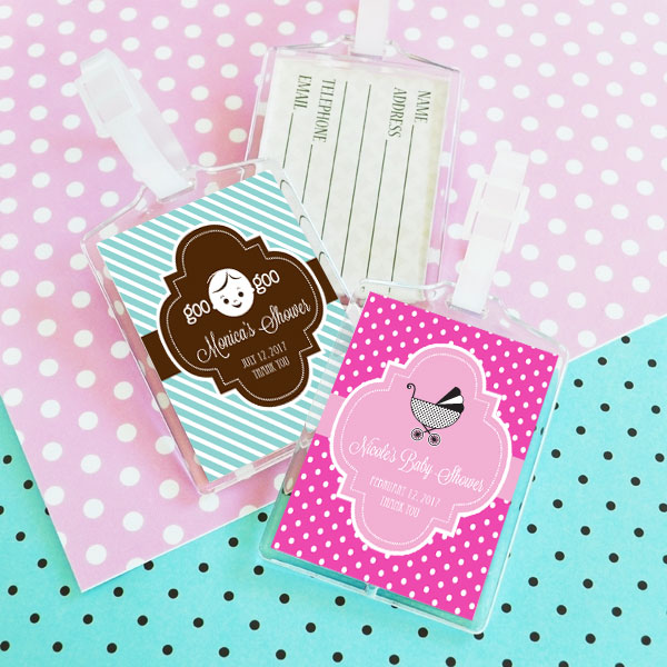 Baby Shower Acrylic Luggage Tags