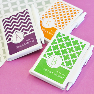 MOD Pattern Monogram Notebook Favors