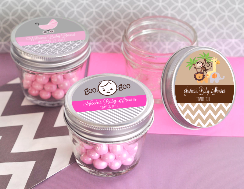 Personalized Baby Shower Small 4 oz Mason Jars