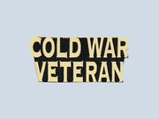 Cold War Veteran Script Pin
